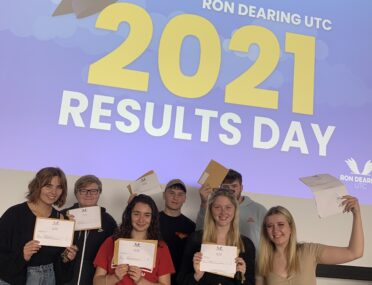 Ron Dearing UTC students' delight at outstanding A-level and technical results cover image