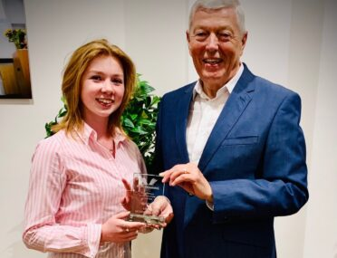 Student receives award for being a leading Ron Dearing UTC advocate cover image